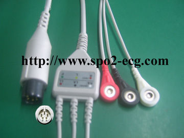 OEM ODM ECG Lead Cable 3 / 5lead AHA IEC LL Style ,1KΩ Resistance